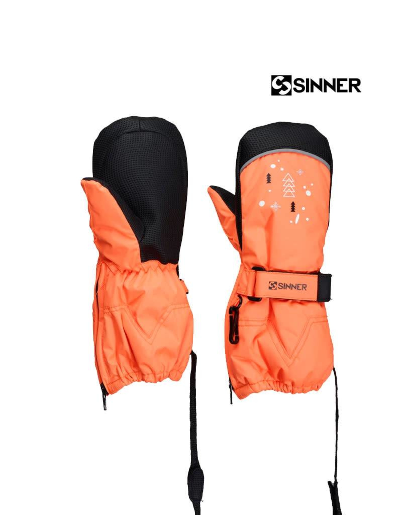 SINNER SINNER WANTEN TIMBER UNISEX mitten Neon Orange