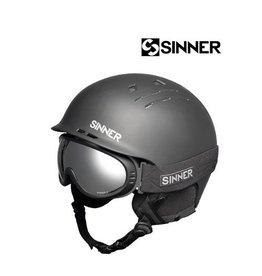 SINNER Skihelm+Skibril Pincher Zwart mt XL (61/62)