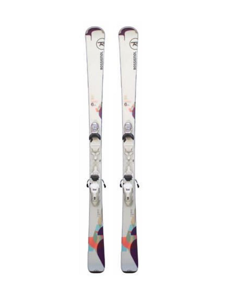 ROSSIGNOL Rossignol Famous 6LTD Wit/Paars/Roze Ski's Gebruikt