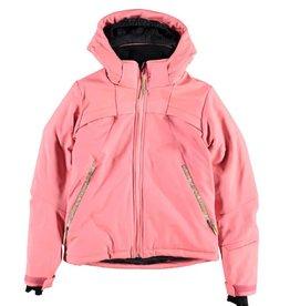 BRUNOTTI BRUNOTTI ARIESTA Softshell ski-jas Girls Fluo Pink mt 152