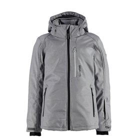 BRUNOTTI MARALAS Softshell ski-jas Boys Light Grey Melee mt 152