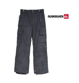 QUIKSILVER SKIBROEK Sherpa Fancy Corduroy Youth Zwart mt 134