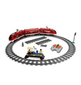 LEGO 7938 Rode Passasierstrein + klein perron CITY