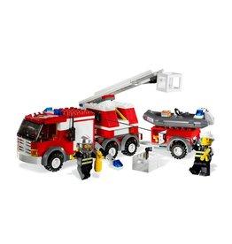 LEGO 7239 Brandweer wagen met aanhanger+zodiac CITY