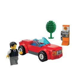 LEGO 8402 Sportwagen rood + praatpaal CITY