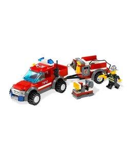 LEGO 7942 Brandweerauto + aanhanger CITY