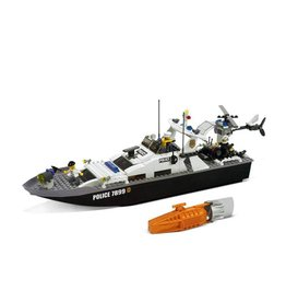 LEGO 7899 Politieboot + helicopter CITY