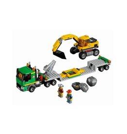 LEGO 4203 Transporter met graafmachine CITY