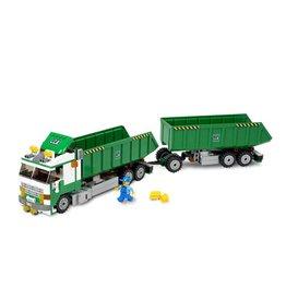 LEGO 7998 Groene Vrachtwagen met aanhanger CITY