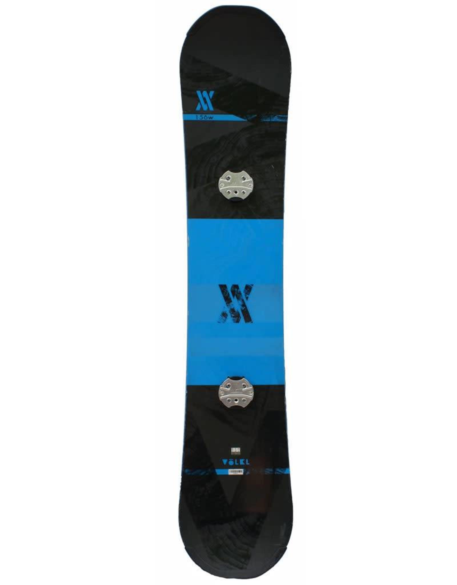 VOLKL Snowboard + Bindingen Volkl Hybrid Lengte 1.56m Blauw/Zwart Gebruikt