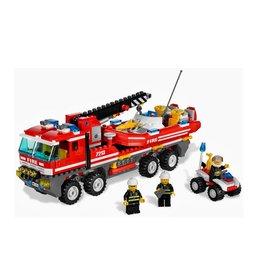 LEGO 7213 Offroad brandweerwagen en boot CITY