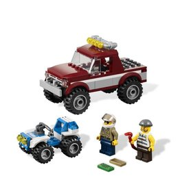 LEGO 4437 Pickup bordeaux + politie quad CITY