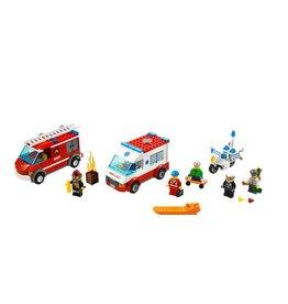 LEGO 60023 Brandweer + politie + ambulance + skaters CITY