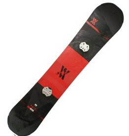VOLKL Snowboard + Bindingen Hybrid Lengte 1.53m Rood/Zwart Gebruikt