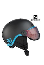 SALOMON Skihelm GROM Visor Black/Blue M (53/56)