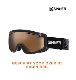 SINNER SKIBRIL VISOR III OTG Mat Black-Orange Vent