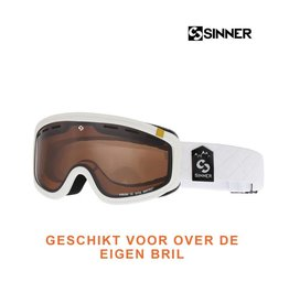 SINNER SKIBRIL VISOR III OTG Mat White-Orange Vent