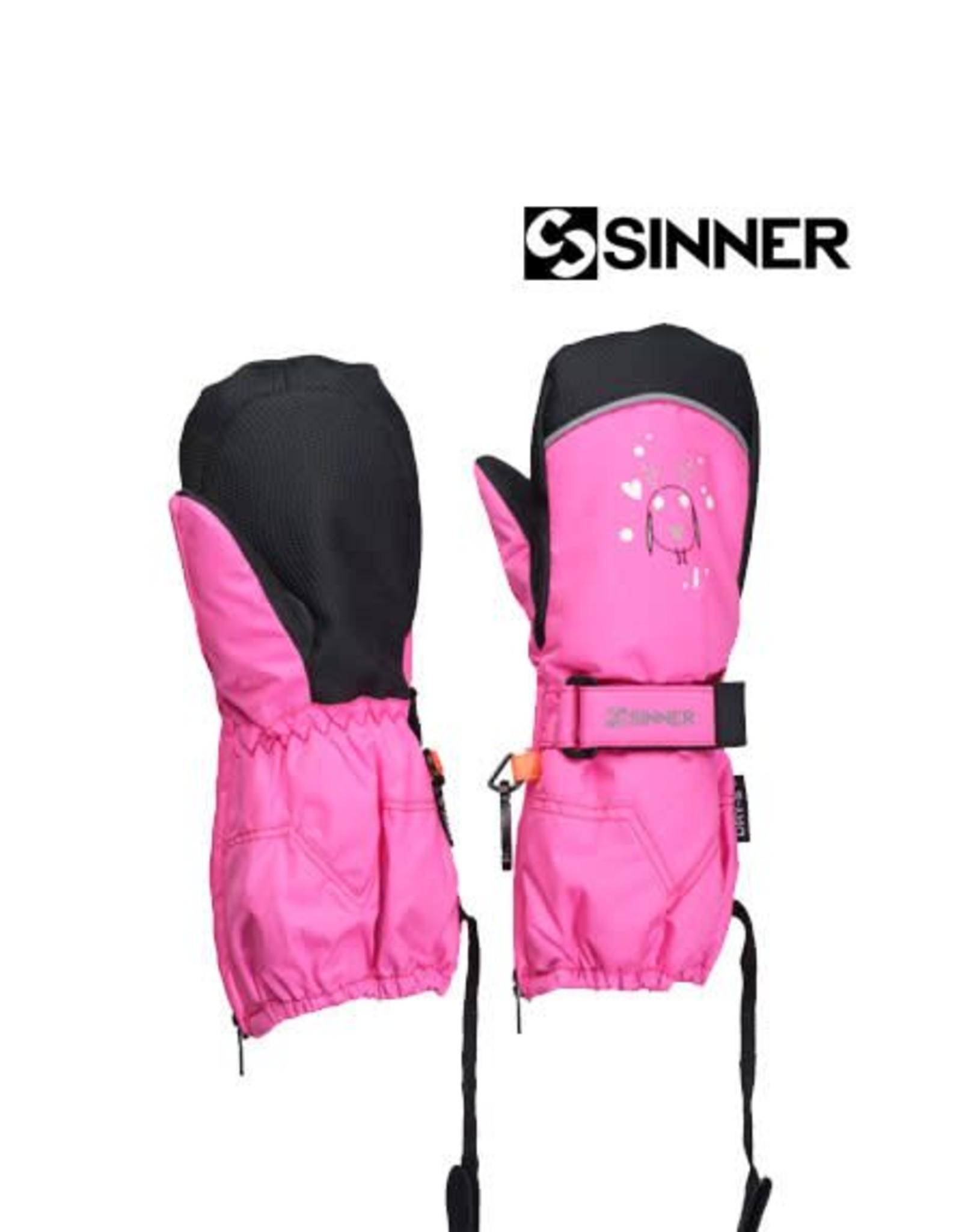 SINNER SINNER WANTEN TIMBER GIRLS mitten Neon PINK VROUW