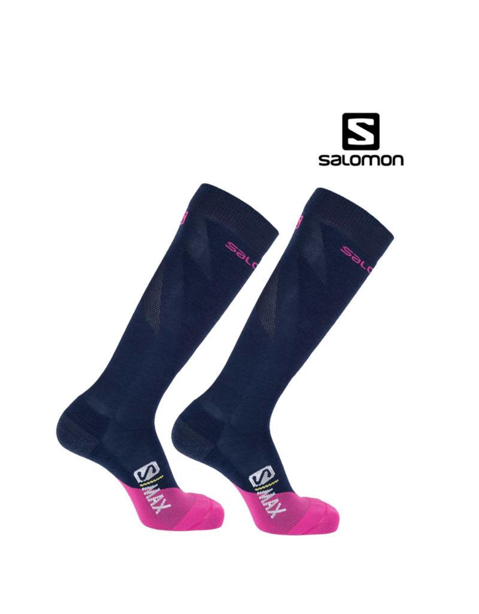 SALOMON SALOMON SKISOKKEN S/MAX Women Blauw/Roze 39-41