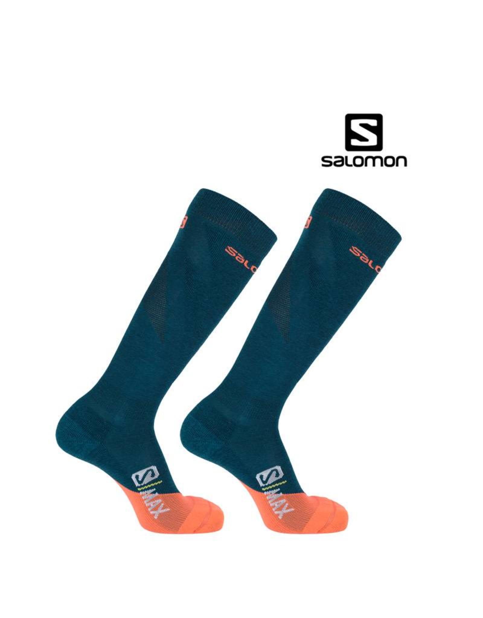 SALOMON SALOMON SKISOKKEN S/MAX Groen-Oranje