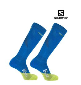 SALOMON SALOMON SKISOKKEN S/MAX Blauw-Lime