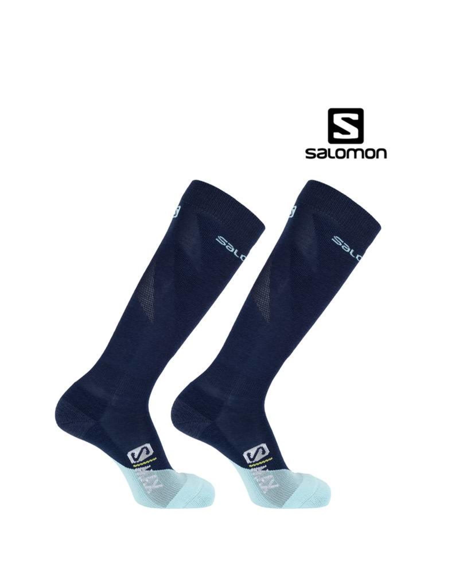 SALOMON SALOMON SKISOKKEN S/MAX Women Blue/Aruba Blue 39-41