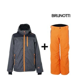 BRUNOTTI SKIPAK GOBI skibroek + GIBSON Ski-Jas Grey/Orange