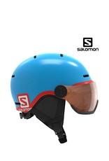 SALOMON Skihelm Salomon GROM Visor Pop Blue M (53/56)