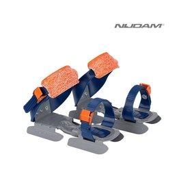 NIJDAM 3005 GLIJ-IJZERS verstelbaar Blw/Oranje