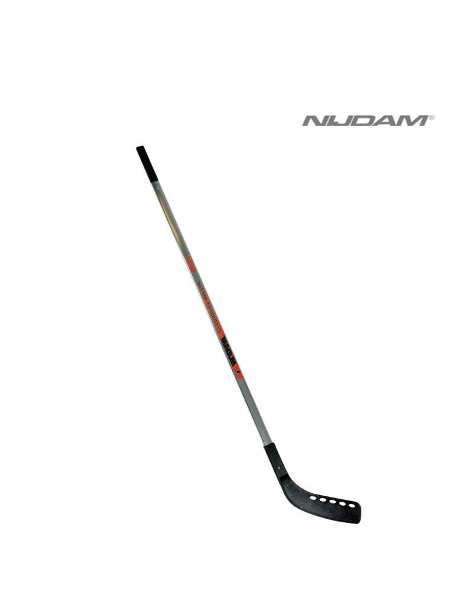 NIJDAM NIJDAM 0180 IJSHOCKEY STICK (135cm) Zilver/Rood