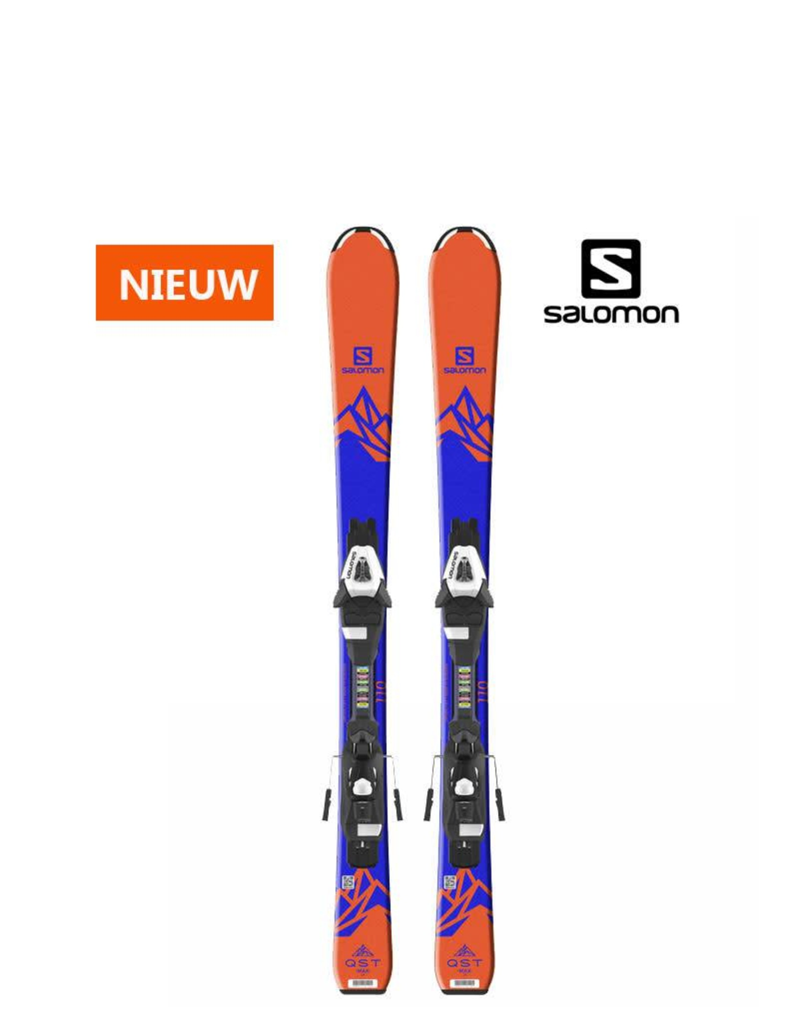 SALOMON Salomon E QST MAX Jr S Oranje/blauw Ski's NIEUW