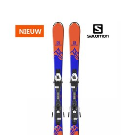 SALOMON E QST MAX Jr S Oranje/blauw Ski's NIEUW
