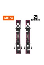 SALOMON Salomon E QST LUX Jr S Lila/Zwart Ski's NIEUW