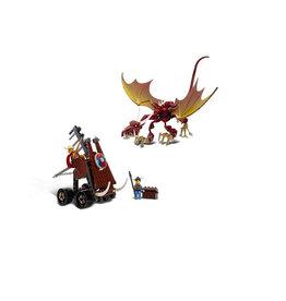 LEGO 7017 Viking Catapult versus the Nidhogg Dragon VIKINGS