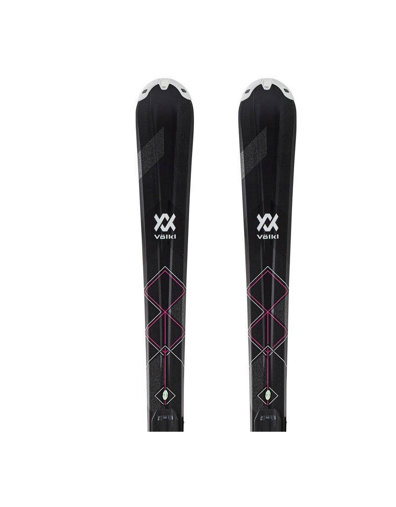 VOLKL Volkl Flair 73 zw/wit/roze Ski's Gebruikt