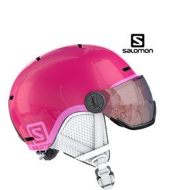 SALOMON Helm Salomon GROM Visor Glossy Pink M (53/56)