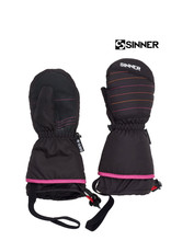 SINNER SINNER WANTEN STRATTON mitten Black (pink) Jr.