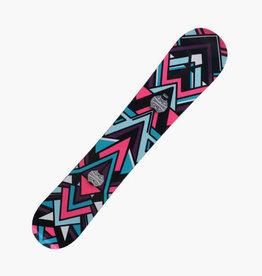 NIKITA Snowboard Chickita Lengte 1.51m Paars/Roze/Blw Gebruikt