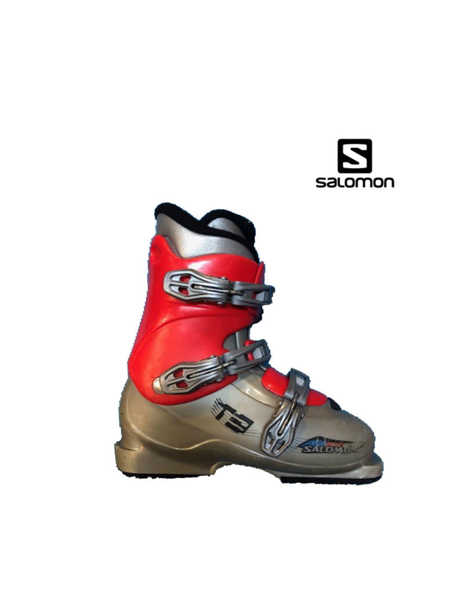 SALOMON Skischoenen SALOMON T3 (grijs/Rood) Gebruikt