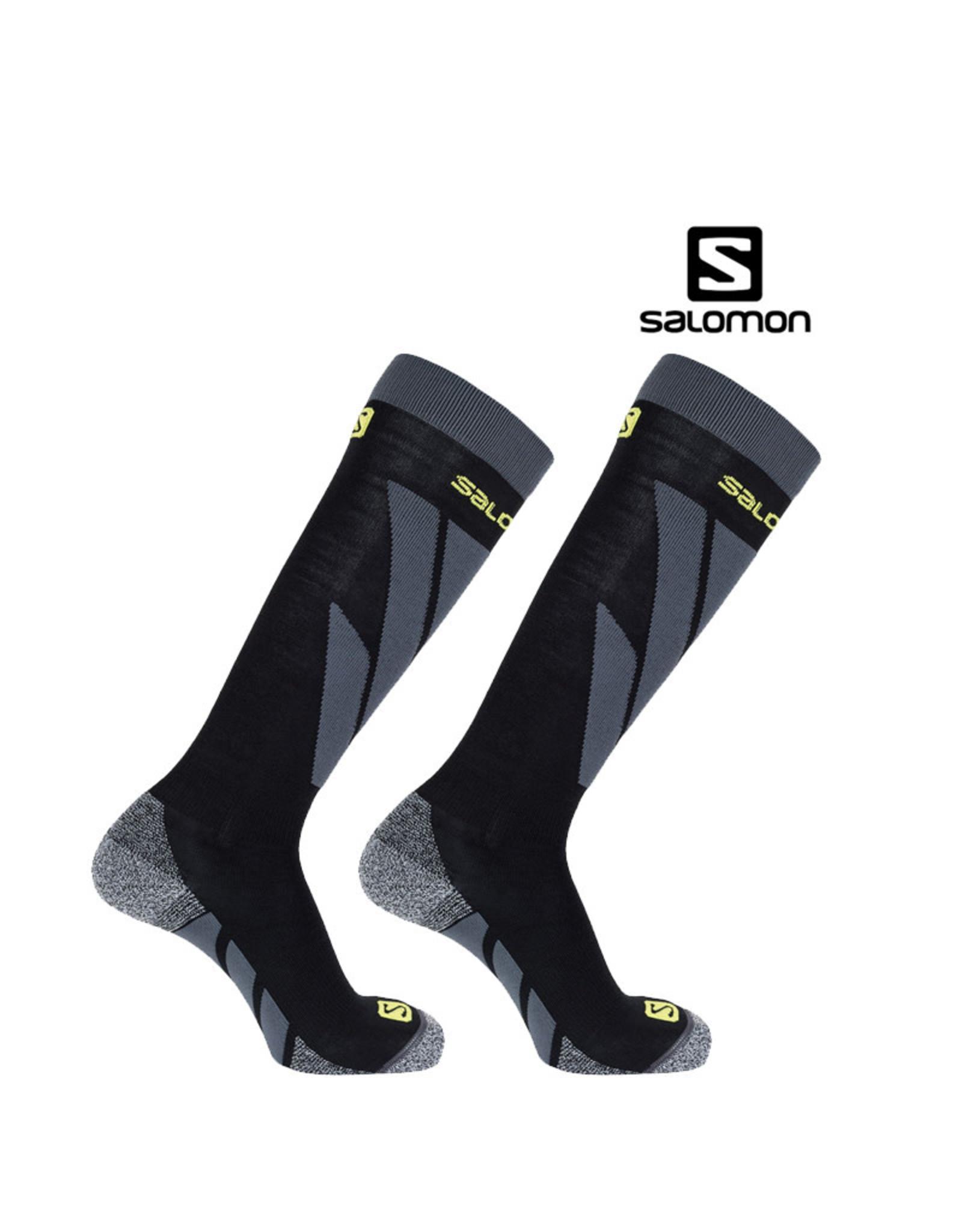 SALOMON SALOMON SKISOKKEN  S/ACCESS Black/Forced Iron 45-47