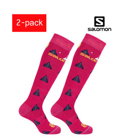 SALOMON SKISOKKEN Team Junior 2-pack