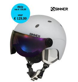 SINNER Helm Titan Visor Mat White Maat L