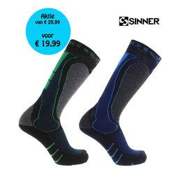 SINNER SINNER SKISOKKEN GEO Blauw/Groen