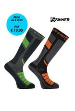 SINNER SINNER SKISOKKEN PRO II-Pack Grijs/Groen