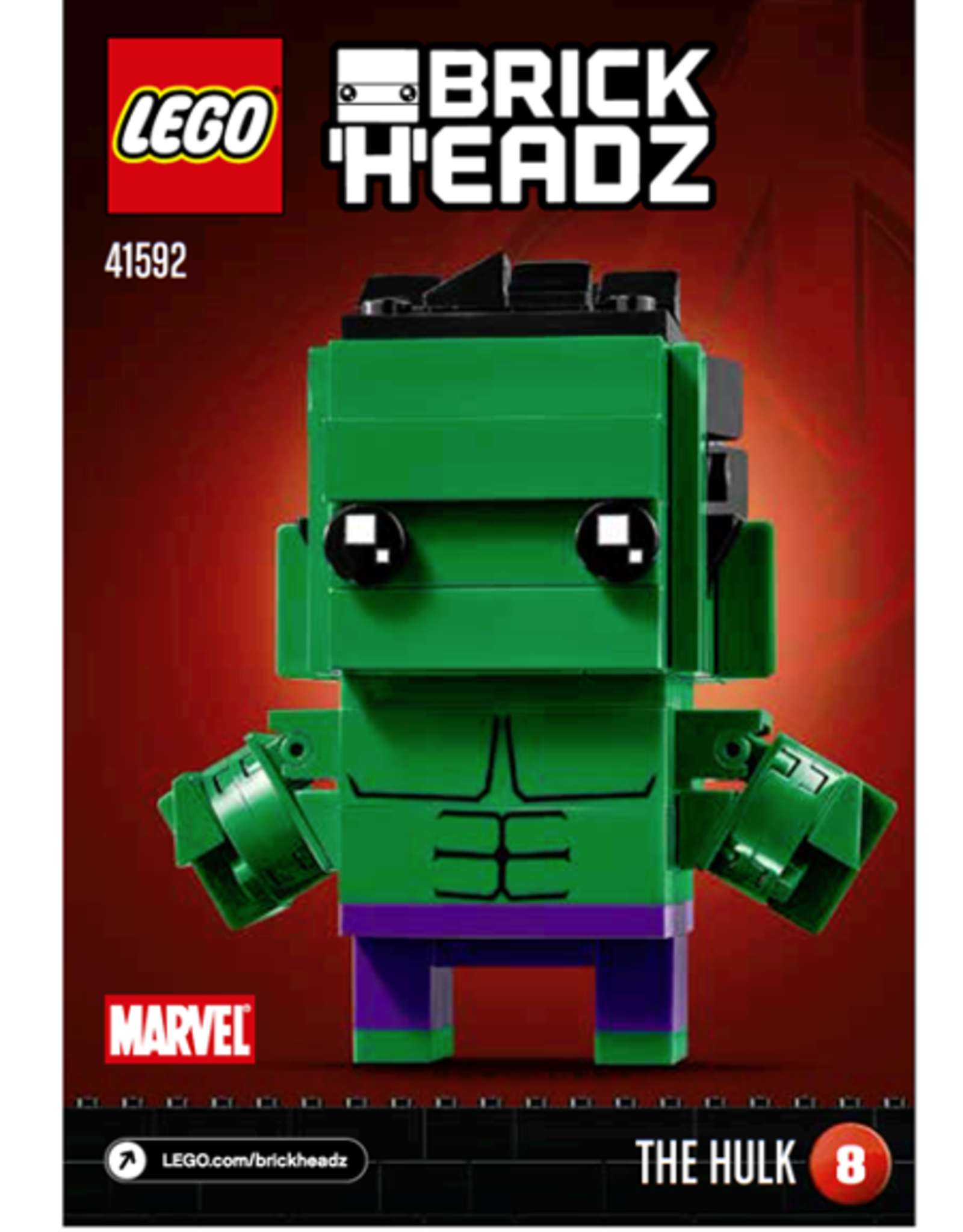 LEGO LEGO 41592 The Hulk BrickHeadz - SPECIALS