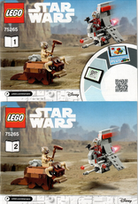 LEGO LEGO 75265 T-16 Skyhopper vs Bantha Microfighters STAR WARS