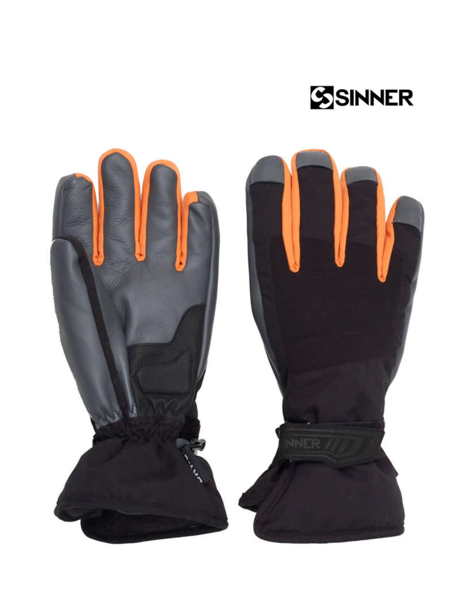 SINNER SINNER HANDSCHOENEN Wolf Glove Black/Orange M 8.5
