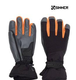SINNER HANDSCHOENEN Wolf Glove Black/Orange M 8.5