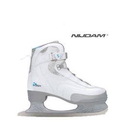 NIJDAM 035 KUNSTSCHAATSEN Softboot Wit/Zilver/Blauw 37