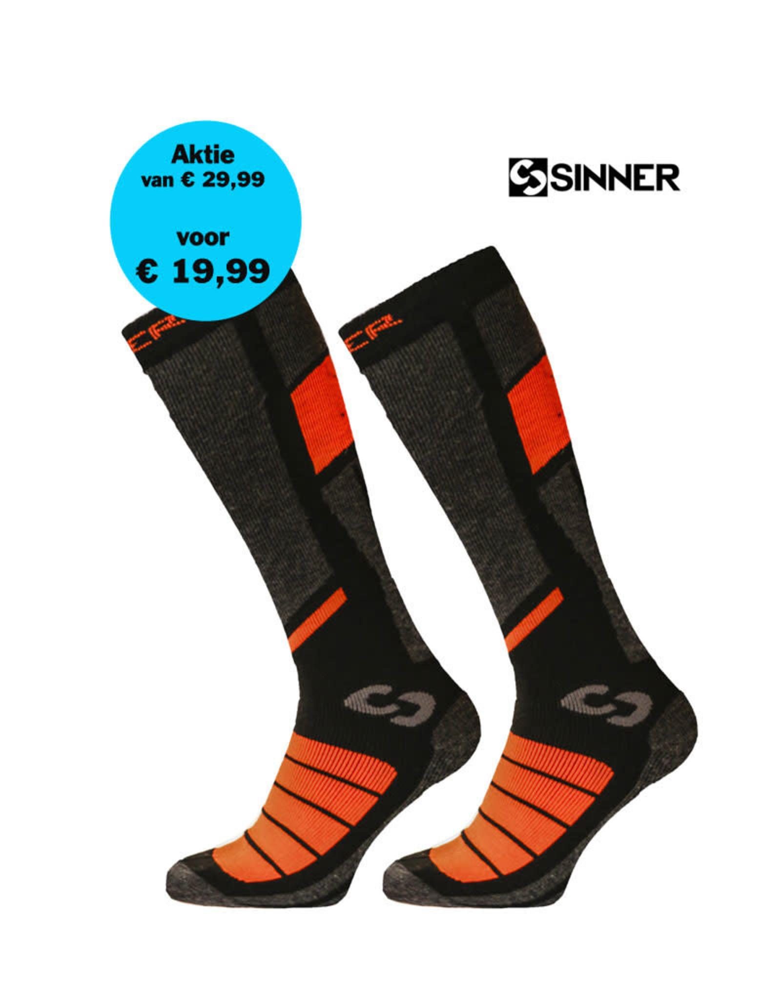 SINNER SINNER SKISOKKEN PRO II-Pack Black/Orange